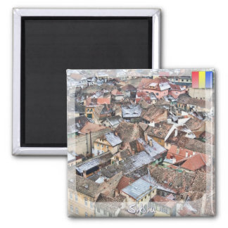 Roof tops square magnet