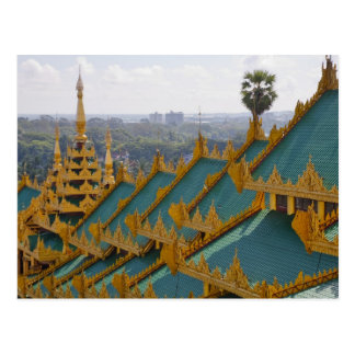 Roof tops of Shwedagon Pagoda, Yangon, Myanmar Postcard