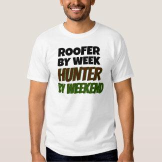Roofer Loves Hunting T-shirt