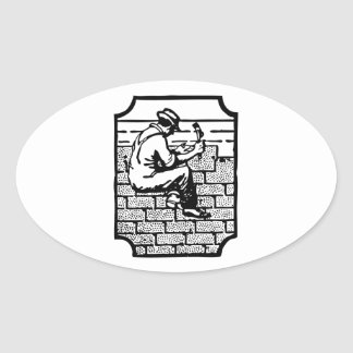 Roofer Oval Sticker
