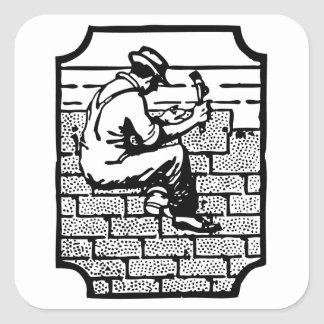 Roofer Square Sticker
