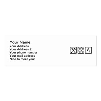 Roofer tools business card template