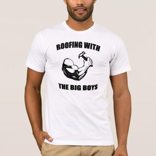 Roofers Tee Shirt, Big Boys