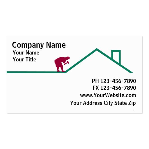 Roofing business card templates 28 images create your own roofing business card templates by premium construction business card templates page7 reheart Image collections