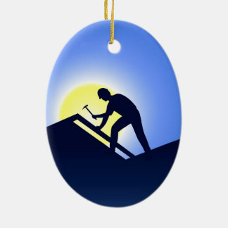 Roofing Christmas Ornament