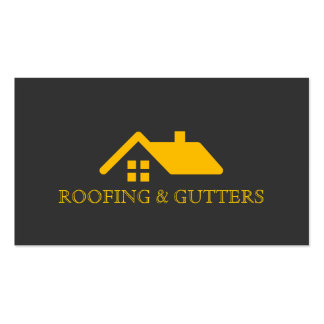 Roofing Gutters Construction Business Card