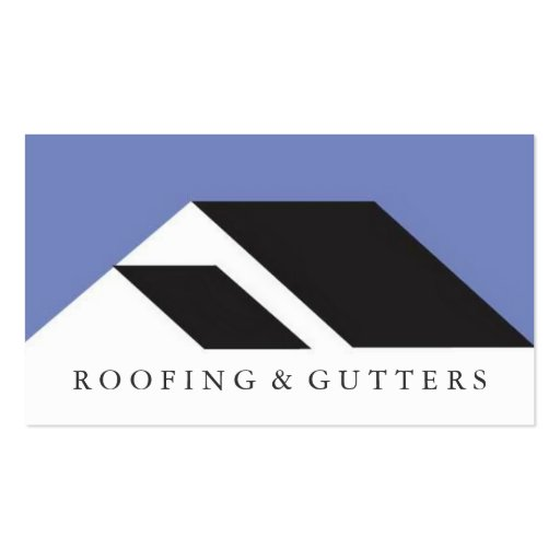 Roofing gutters construction business card zazzle for Business cards roofing design