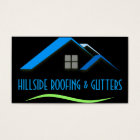 Roofing Gutters Windows Construction Business Card