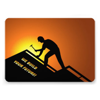 Roofing Worker Invitation
