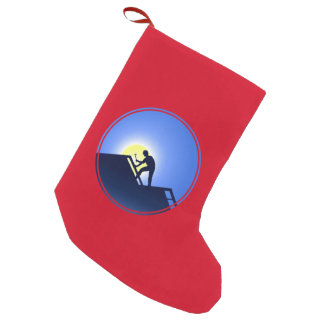 Roofing Worker Small Christmas Stocking