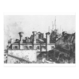 Roofs and Chimneys in Venice by Canaletto Postcard