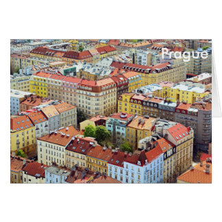 Roofs of Prague Greeting card