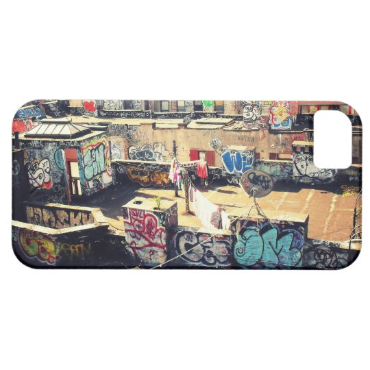 Rooftop Graffiti in Chinatown iPhone 5 Cover