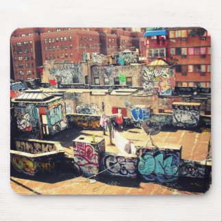 Rooftop Graffiti in Chinatown Mouse Pad