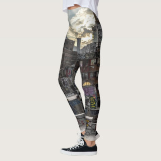 Rooftop graffiti leggings