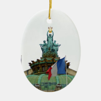 Rooftop of the Opera Garnier in Paris, France Ceramic Oval Decoration