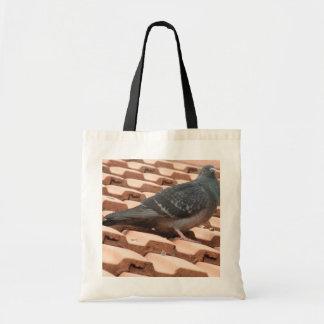 Rooftop Pigeon Tote Bag