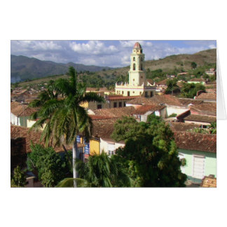 Rooftops, Bell Tower, Trinidad, Cuba Greeting Card