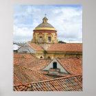 Rooftops in Bogota Poster