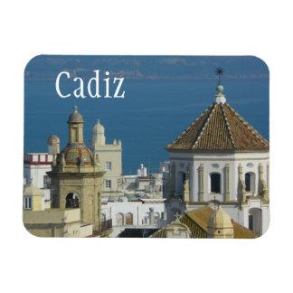 Rooftops Mediterranean Sea Cadiz Spain Magnet