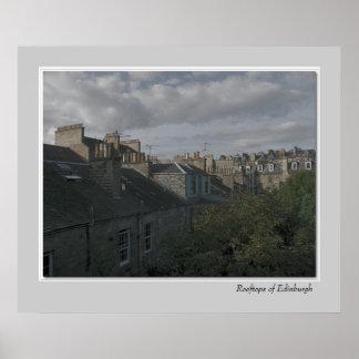 Rooftops of Edinburgh Poster
