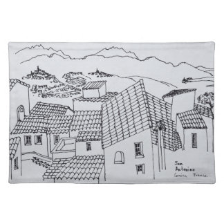 Rooftops of Sant'Antonino | Corsica, France Placemat