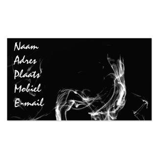 Rook kaartje visitekaartjes sjabloon