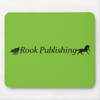Rook Publishing Logo Lime Green Background Mouse Pad