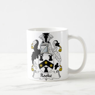 Rooke Family Crest Basic White Mug
