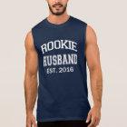 Rookie Husband Est. 2016 funny hubby men's shirt