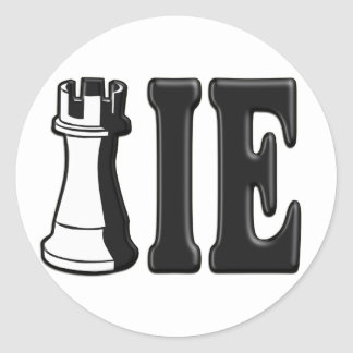 ROOKIE (Rook Chess Piece + ie) Classic Round Sticker