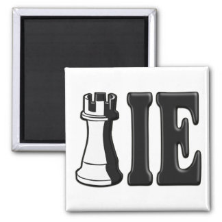 ROOKIE (Rook Chess Piece + ie) Square Magnet