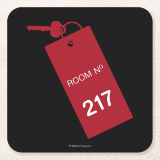 Room 217 Keys Square Paper Coaster