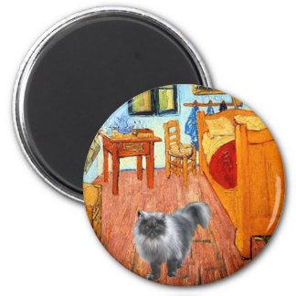 Room - Blue Smoke Persian cat Fridge Magnet