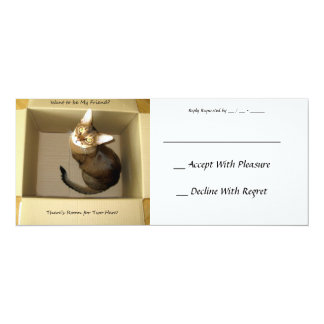 "Room for Two 4"" X 9.25"" Invitation Card"