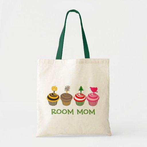 Room Mom Seasonal Cupcakes Tote Bags