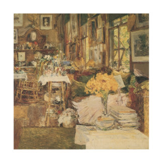 Room of Flowers by Hassam Vintage Impressionism Wood Prints