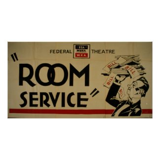 Room Service Federal Theatre Project San Diego WPA Poster
