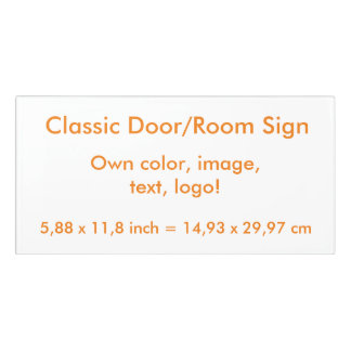 Room Sign uni White ~ Own Color
