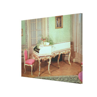 Room with the harpsichord canvas print