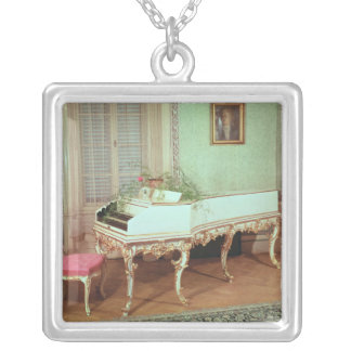 Room with the harpsichord silver plated necklace
