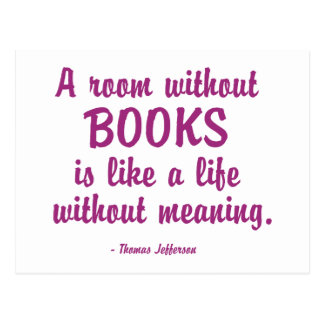 Room Without Books Is Like A Life Without Meaning Postcard