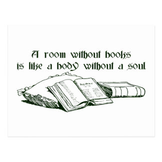Room Without Books Postcard