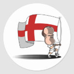 Rooney with ENGLAND Flag Classic Round Sticker