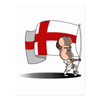 Rooney with ENGLAND Flag Postcard