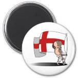 Rooney with ENGLAND Flag Refrigerator Magnets