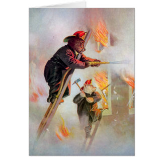 Roosevelt Bear Firefighters Greeting Card