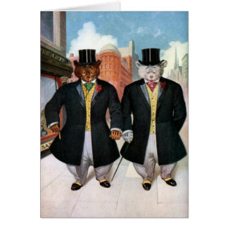 Roosevelt Bears On the Town In New York Card