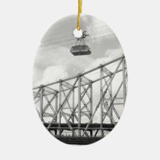 Roosevelt Island Tramway, NYC, Analog (film) photo Christmas Ornament