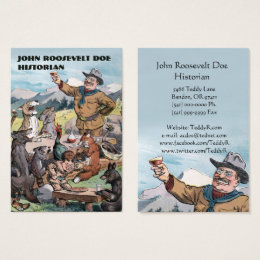 Art history business cards business card printing zazzle uk roosevelt toasts wildlife historian business card reheart Choice Image